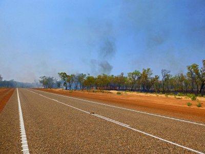 Worrying fire as I leave Kununurra