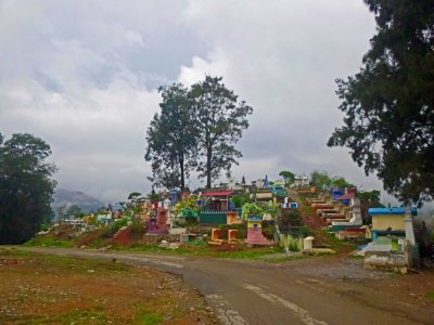Maubisse's colourful cemetery